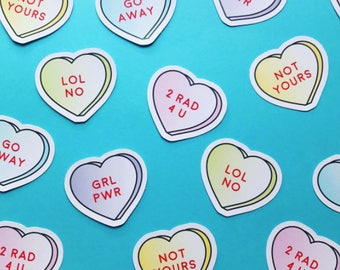 Candy Heart Sticker Pack