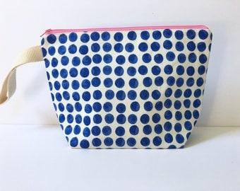 Medium Zipper Pouch, Make up Bag, Toiletry Bag, Knitting Bag, Project Bag, Zipper Project Bag, Blueberry Zipper Pouch, Diaper Clutch, Zippy