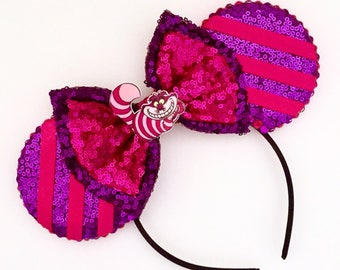 The Grinning Cat - Handmade Cheshire Cat Inspired Mouse Ears Headband