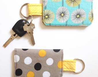 Keychain Wallet - ID Wallet - Student Wallet - Stocking Stuffer - Gifts for Her - Gift Card Holder - Keychain Card Holder - Teacher Gift