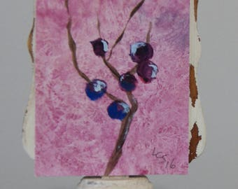 Berries – Acrylic – An ACEO Original