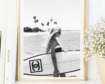 Chanel surf print