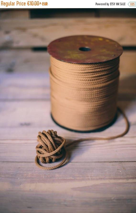 15 % OFF Brown yarn - diy crafts- diy projects- polyester rope- crochet supplies- craft supplies- macrame yarn- crochet yarn- rope cord #05
