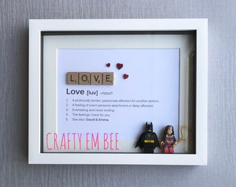 Personalised Love Scrabble Lego Frame