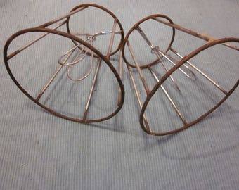A Pair Of Vintage Small Wire Lampshade Frames