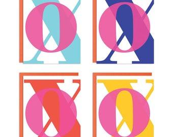 XO's Love Mixed Greeting Card Set