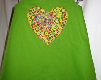 SOLD example, green a line dress unique