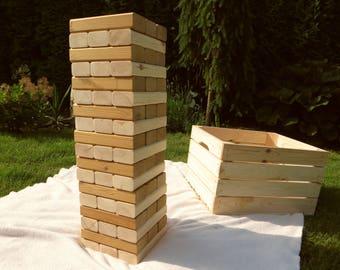 Giant jenga, large jenga, wedding jenga, lawn jenga, lawn game, yard jenga, yard game, jumbo jenga, graduation game, wedding game wooden toy