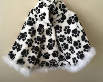 CUSTOM - Hooded Fleece Poncho (single layer fleece)