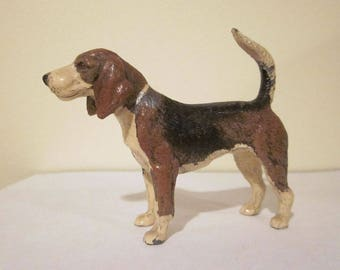 Vintage Made in Germany Heyde Cast Metal Beagle Figurine