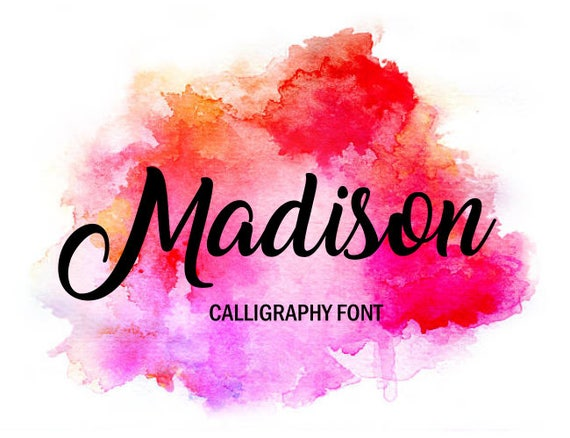 Watercolor calligraphy font free images ashley brush script