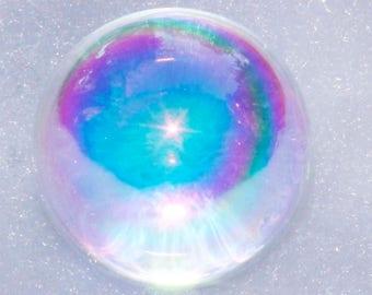 "Angel Aura Quartz Crystal Sphere, Angel Aura Crystal Ball, Opal Aura Crystal Orb, Rainbow Aura Quartz Crystal Ball, 1"" or 22mm Diameter"