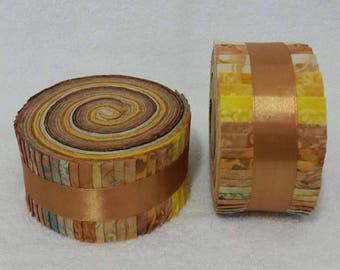 Batik Jelly Roll - Caramel Tones