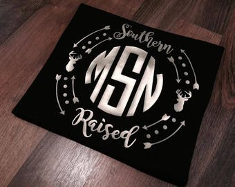 Southern Raised Tee with Monogram
