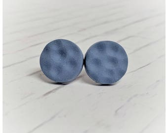 Signature blue earrings Allura studs ice blue exclusive nickel free earrings lightweight earrings moon earrings grey Blue earrings