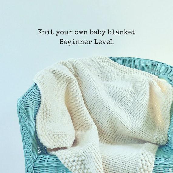 Baby Knitting Kits Uk : Knitting kit baby blanket learn to knit shower gift