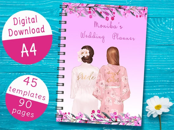 printable a4 wedding planner book wedding planning checklist