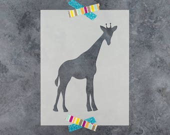 Giraffe Stencil - Reusable DIY Craft Stencils of a Giraffe