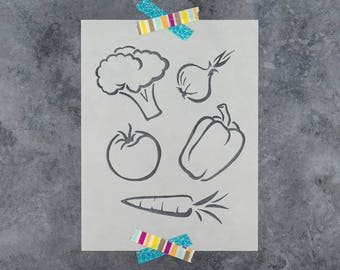 Vegetables Stencil - Reusable DIY Craft Stencils of Vegetables