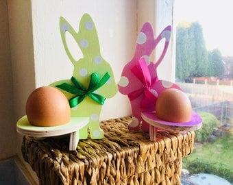 Kinder egg/egg  wooden bunny holder.