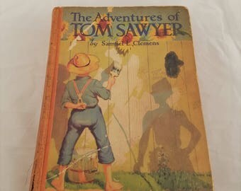 Antique book The Adventures of Tom Sawyer by Samuel L. Clemens