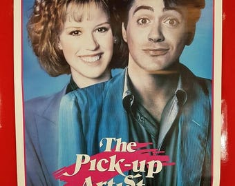 SALE 1980's Pick Up Artist Movie Poster / Antique The Pick Up Artist Movie Advert Poster 80s Pop Culture Collectible Movie Poster