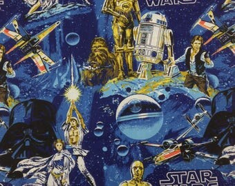 Vintage 1977 Star Wars Flat Twin Sheet ~No Rips!~