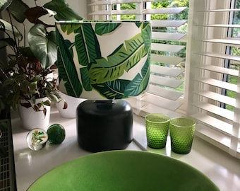 Lampshade in banana leaf fabric