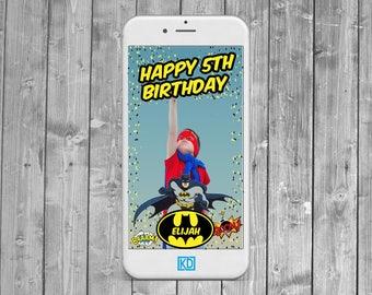 Batman Superhero Snapchat Geofilter