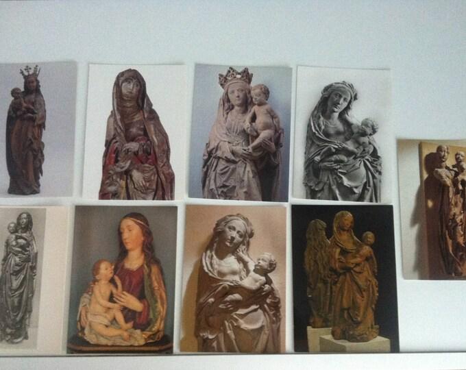 Vintage 9 pieces Postcards Religion Madonna Maria Church Postcard Photo