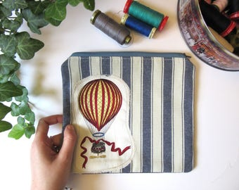 Vintage balloon cloth pouch