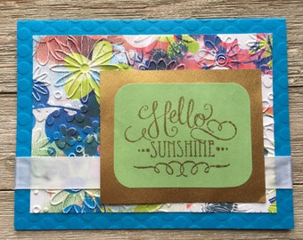 Embossed Floral Hello Sunshine Card