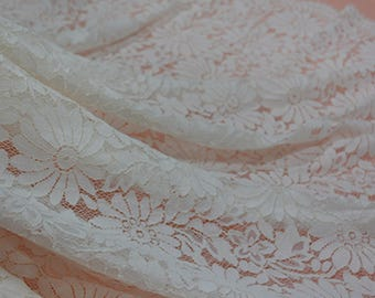 Red Eyelash Lace Fabric Lace Trim 59.05 Inches Wide 1.64 Yards/ Craft Supplies, WL1432