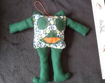 Green washable snowman blanket