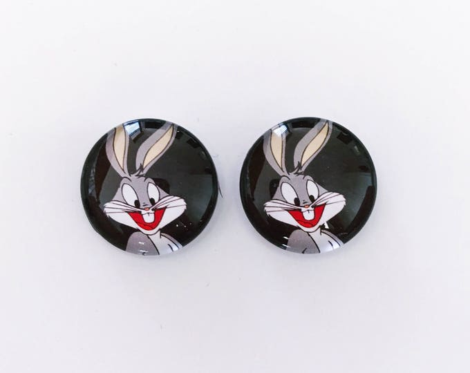 The 'Bugs Bunny' Glass Earring Studs