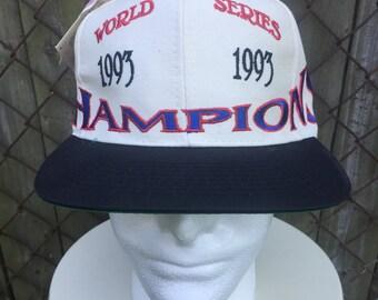 Vintage Deadstock 1993 World Series Champions Toronto Blue Jays Blank Snapback