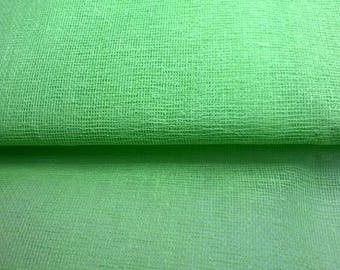 TARLATAN 100% cotton Green Apple width 130cm