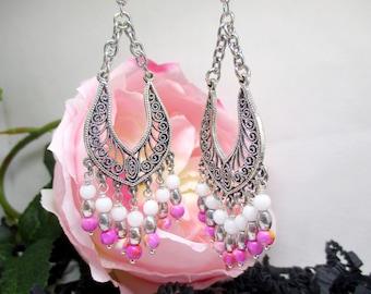 Beautiful romantic chandelier earrings.