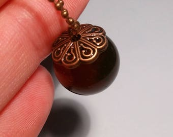 Bubble necklace blood red resin