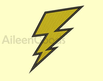 Lightning Bolt Embroidery  design 9 Size  INSTANT download machine embroidery