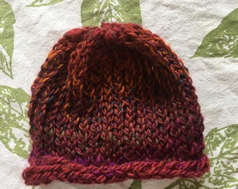 Red multicolored hat