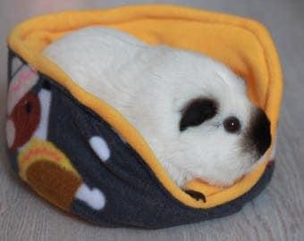 Soft Fleece Bed Cuddle cup Guinea Pig Rat Hedgehog - 38 taco dog fleece