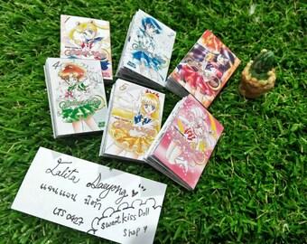 Sailor moon : Japanese manga book set for dolls