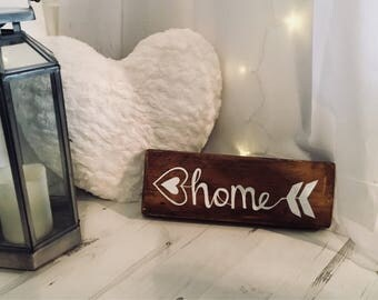Handmade Wood Home Sign Wooden Plaque gift