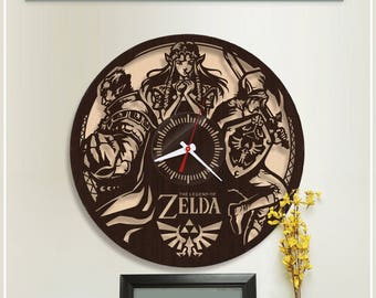 The Legend of Zelda Clock/Wooden Clock/HDF Plywood Clock *w410 Handmade Clock/Wooden Horloge/Wall Clock/Video Game Clock/Gamer Clock