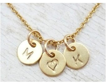 Gold 750/1000 uppercase initial personalized necklace (18 k)