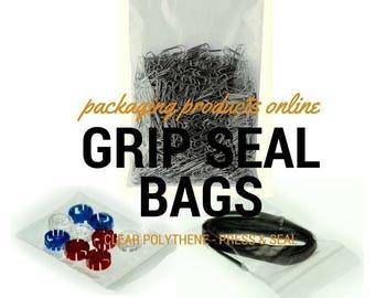 Clear Grip Seal Bags Self Press and Resealable ZipLock Polythene Bags Baggies