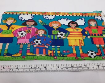Large case small playful soccer (football)