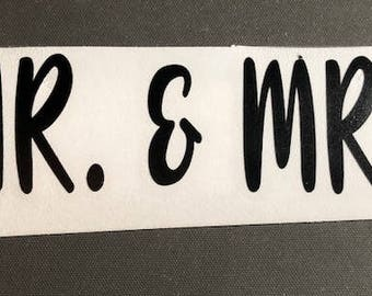 Mr. & Mrs. Vinyl Decal