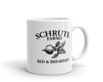 Schrute Farms - Mug - Bed and Breakfast, The Office, Bears Beets Battlestar Galactica, Dwight Schrute